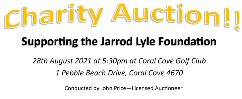 Charity Auction supporting the Jarrod Lye Foundation